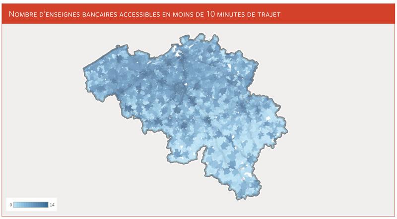 le nombre d'agences bancaires accessibles par les ménages