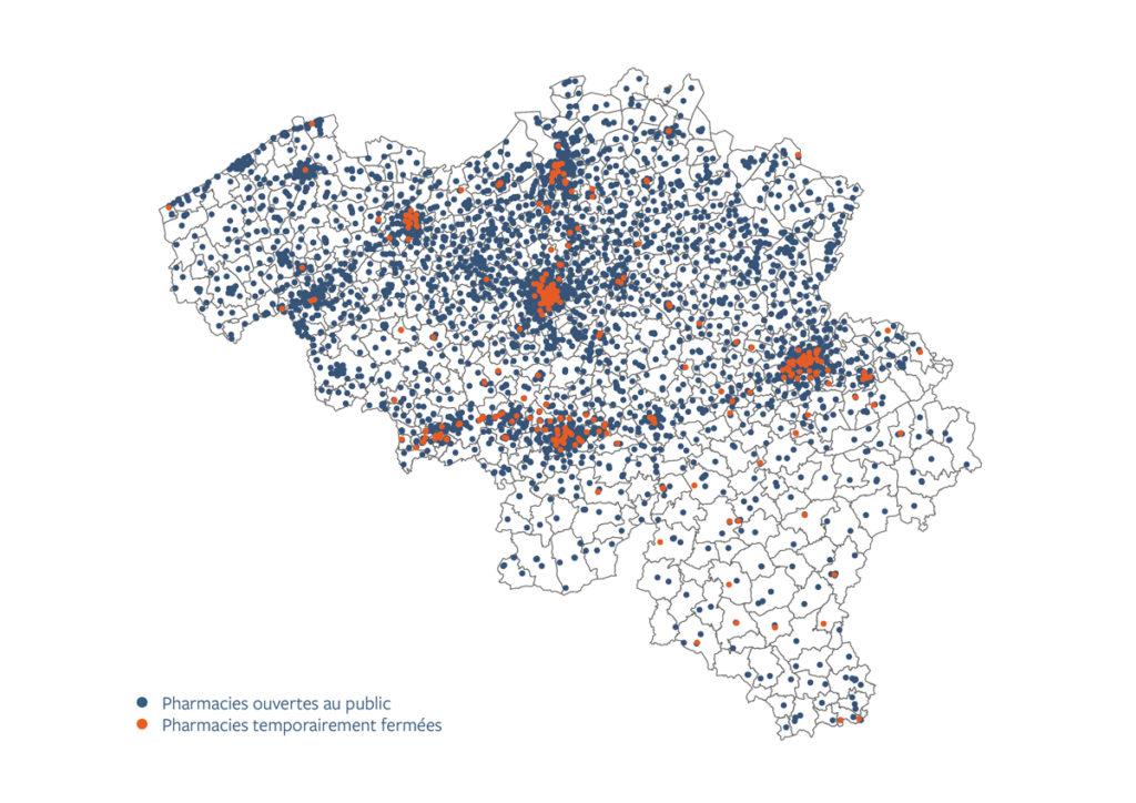 nombre de pharmacies en Belgique