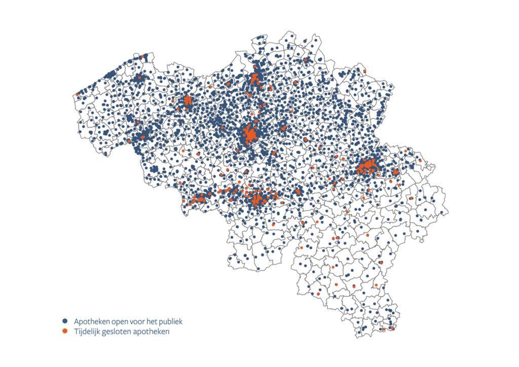 Aantal apotheken in België